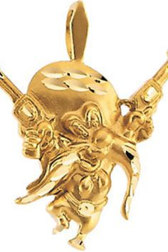 Yosemite Sam Pendant     Quality - 14K Yellow    Size - 19.00 x 17.00 MM     Finish - Polished     Series Description - YOSEMITE SAM PENDANT W/ENAMEL     Weight: 1.221 DWT ( 1.90 grams)      ST-23302    Visit our website at http://www.thesgdex.com  The Silver Gold & Diamond Exchange  WE BUY   SELL   TRADE   CONSIGN   AUCTION   APPRAISE