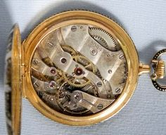 Longines 18K Champleve Enamel Pendant Watch - Bogoff Antique Pocket Watch # 8055