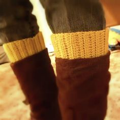 """DIY crochet~ """"Ribbed Boot Cuff"""" by Tangled Happy"""