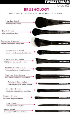 The best guide to Makeup Brushes and their uses!