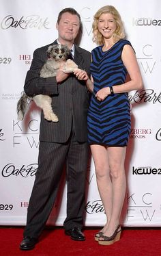Robert Dotcom Jackson, Melissa Berger (to be Jackson) and puppy Love Jackson at KC Fashion Week