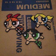 Powerpuff Girls perler beads by sketchaddidas