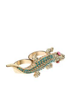 ASOS Double Finger Crocodile Ring
