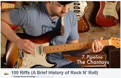La historia del rock 'n roll a través de 100 famosos riffs