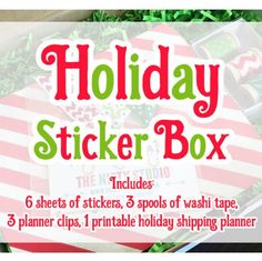 Holiday Sticker Boxe