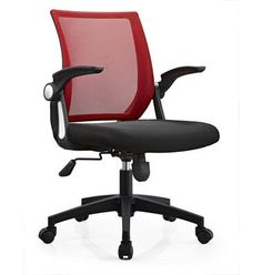 Middle Back Adjustable Armrest Black Ergonomic Mesh Office Chair