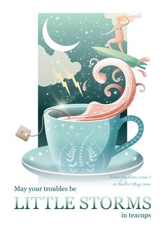 Part of the Wild By Nature motivational art collection - storm in a teacup. Available to purchase from Displate.com