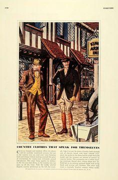 1939 Ad Men Country Clothes Fashion Leslie Saalburg - ORIGINAL ADVERTISING EQ1 in | eBay