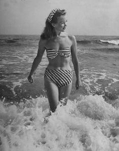 Barbara Laage, 1946. #splendideveryday #splendidstripes