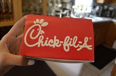 chick-fil-a. ♡ my sister works there so we eat it all the time