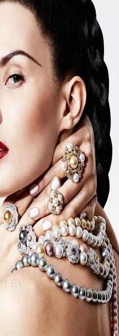 Pearls: Sofia Rudeva by Greg Adamski for Elle Arabia ♥✤Photography | LBV