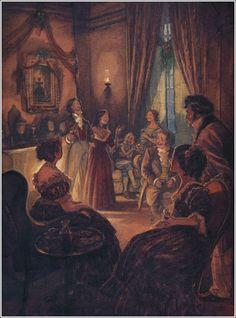 Un chant de Noël (A Christmas Carol), également publié en français sous les titres Cantique de Noël, Chanson de Noël ou Conte de Noël, est le premier et le plus célèbre des contes écrits par Charles Dickens - Illustrator P. J. Lynch