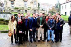 En Santiago, después del encuentro que mantuvo Feijóo con los jóvenes