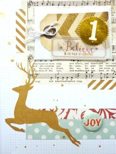 December Daily anke Kramer  Love the mix of gold diecuts