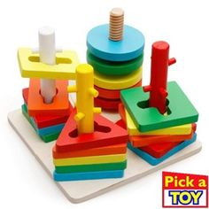 Wooden Geometric Puzzle Board Kids Educational Jigsaw Stacker Toddler Wooden Toys For Children Gifts Montessori Kids Toys. Toddler Humor, Toddler Toys, Toddler Activities, Baby Toys, Kids Toys, Social Activities, Wooden Puzzles, Wooden Blocks, Wooden Toys