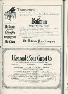 #BaldwinPianos #piano #1920s #stl #stlouis #oldads #history