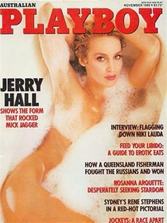 Playboy (Australia) November 1985  with Jerry Hall on the cover of the magazine