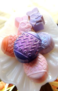 EGGS BUNNIES EASTER Soap Easter Eggs and Easter by thecharmingfrog, $10.00