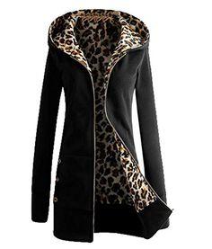 Tootless Women s Basic Hooded Lined Pea Coat Jacket Wild Mid Coat Black US  3XL Női Divat 31ddecbb51