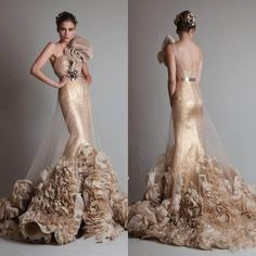 2017 Gorgeous Party Dresses Lace 3D Flowers One Shoulder Beaded Prom/Party Gowns #Unbranded