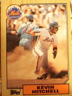 Kevin Mitchell 1987 New York Mets  FREE SHIPPING A653