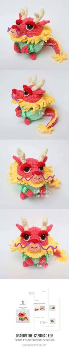 Dragon The 12 Zodiac Egg amigurumi pattern