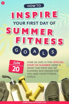 The summer is the perfect time to start working towards some new fitness goals. In this article learn tips and tricks for making the most of your workout routine in the summer. Here is what the first day of summer means for your fitness goals! #sunnyhealthfitness #summerfitnessgoals #fitnessgoals #summergoals #fitness #fitnessroutine #summerfitnessroutine #summerworkouts Health And Fitness Articles, You Fitness, Fitness Goals, Health And Wellness, Fitness Motivation, Health Fitness, Workouts Outside, Outdoor Workouts, At Home Workouts