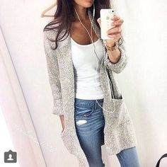 "I LoVe ""boyfriend"" cardigans! They go with anything and are so comfy!!"