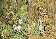 From The Children's King Arthur illustrated by Helen Stratton