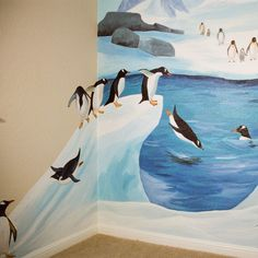 Close Up on Arctic Mural mural idea as seen on http://www.findamuralist.com