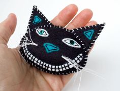 Vintage Style Black Cat Pin for Halloween