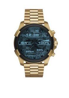 Diesel Men s Men s Gold-Tone Diesel On Full Guard Touchscreen Smartwatch -  Gold - One 811b82940b9
