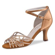Anna Kern – Mujeres Zapatos de Baile 700-60 – Satén Bronce – 6 cm Color: Bronce Material exterior: Satén Revestimiento: Cuero Cierre: Hebilla Altura del tacón: 6 centímetros Tipo de tacón: Flare