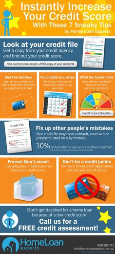7 sneaky tips to increase your credit score infographic Credit, Credit Scores, Credit Repair #credit #creditscore