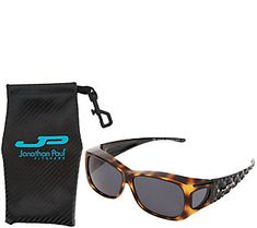 58afdc946ee Jonathan Paul Diamond Cut FitOvers Sunglasses with Case — QVC.com