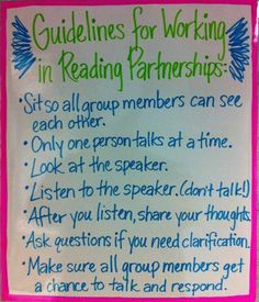 Guidelines for Working in Reading Partnerships