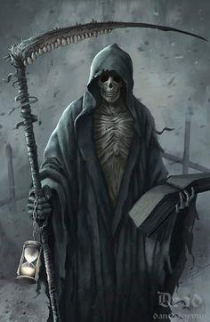 my last job -Death Horsemen of the Apocalypse Death Horsemen of the Apocalypse Tatuaje Grim Reaper, Grim Reaper Art, Grim Reaper Tattoo, Don't Fear The Reaper, Grim Reaper Costume, Dark Fantasy Art, Dark Art, Ange Demon, Skulls