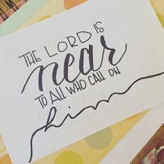 What does the nearness of the Lord mean?  It is for my good but it often so full of holiness that I have to turn my face away (my sin is so deep) from the glory of it...like Moses. . . . #biblesays #bibleverse #bibleart #biblejournaling #communityovercompetition #letteringthepromises #calledtobecreative #shereadstruth #shepaintstruth #hereadstruth #makersmovement #christiancreative #faithart #shewritestruth #goodnews #illustratedfaith #bedeeplyrooted #letterinhislove #thatsdarling…