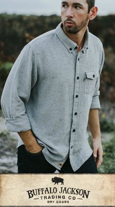Our men's casual and dress shirts are perfect for any guy's style. Made to keep you cool, these short sleeve and long sleeve button up shirts will carry you right through winter into spring. Outfit yourself in fashion for the rugged gentleman. Tall Men Fashion, Mens Fashion, Men's Shirts, Flannel Shirts, Dress Shirts, Top Clothing Brands, Mens Flannel, Best Gifts For Men, Fishing Shirts