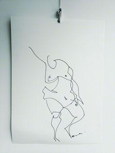 ::: Life drawing / gesture drawing :::  60 sec drawing ... mi ricorda tanto il segno di Minguzzi