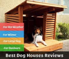 Luxury Dog Houses for the Modern Pup Check out these stylish dog houses that will fit right in with your modern home design.Check out these stylish dog houses that will fit right in with your modern home design. Cheap Dog Houses, Modern Dog Houses, Cool Dog Houses, Luxury Dog House, House Dog, Pallet Dog House, In The Dog House, Dog House Outside, Luxury Houses