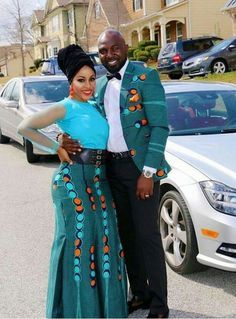 African fashion for men has come a long way. Today, we have a wide selection of amazing African clothing for men that are available in different designs, colors, styles, and fabrics. Couples African Outfits, African Dresses For Women, Couple Outfits, African Attire, African Wear, African Fashion Dresses, African Women, Ankara Fashion, African Style