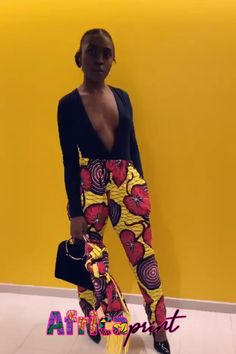 This African Ankara pants come with Fringed Scarf that can be used as a headwrap. Ankara Dress Styles, African Print Dresses, African Fashion Dresses, African Dress, African Prints, Ankara Fashion, African Fashion Traditional, African American Fashion, African Attire
