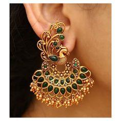 Indian Jewelry Earrings, Jewelry Design Earrings, Gold Earrings Designs, Ear Jewelry, Antique Earrings, Indian Gold Jewelry, Bridal Jewelry, Jhumka Designs, Gold Jhumka Earrings