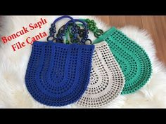 Net Bag Knitting With Bead Handle – Knitting patterns, knitting designs, knitting for beginners. Crochet Coat, Crochet Purses, Crochet Handles, Knitting Patterns, Crochet Patterns, Knit Basket, Net Bag, Crochet Videos, Clutch