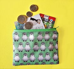 Your place to buy and sell all things handmade Cute Baby Penguin, Baby Penguins, Penguin Drawing, Hobbies And Interests, Coin Purses, Uk Shop, I Am Happy, Printing On Fabric, Print Design