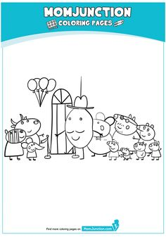 peppa pig house Coloring Page Peppa Pig Coloring Pages, Beach Coloring Pages, House Colouring Pages, Cartoon Coloring Pages, Pig Crafts, Diy Home Crafts, Peppa Pig Drawing, Peppa Pig House, School Holiday Activities