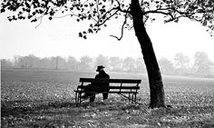 Man sitting on a bench under a tree. Three months ago we read that loneliness has become an epidemic among young adults. Now we learn that it is just as great an affliction of older people. A study by Independent Age shows that severe loneliness in England blights the lives of 700,000 men and 1.1m women over 50, and is rising with astonishing speed.