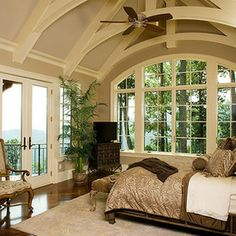 traditional bedroom by Donald A. Gardner Architects
