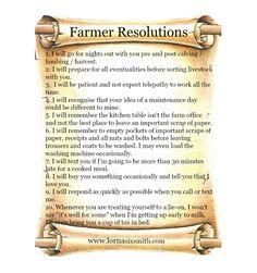 Farmer New Year Resolutions